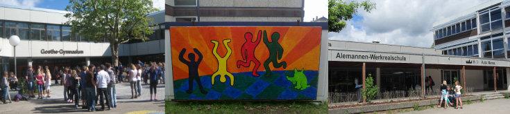 Goethe-Gymnasium Emmendingen, Emil-Dörle-Schulen Herbolzheim, Alemannen-Werkrealschule Denzlingen; Quelle: © Diakonie Emmendingen, Schulsozialarbeit, © Diakonie Emmendingen, Schulsozialarbeit