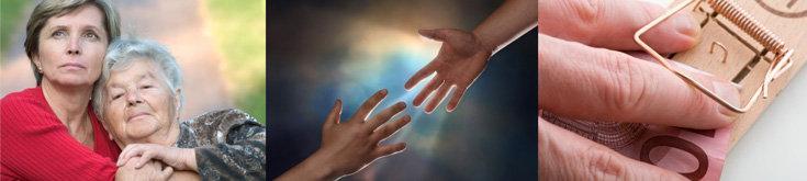 Seniorenbetreuung, Helfende Hand, Finanzschwierigkeiten; Quelle: © absolut - Fotolia.com, © Jgroup   Dreamstime.com, © unpict - Fotolia.com, © absolut - Fotolia.com, © Jgroup   Dreamstime.com, © unpict - Fotolia.com, Fotolia_816172, dreamstime_2056409, Fotolia_5513741